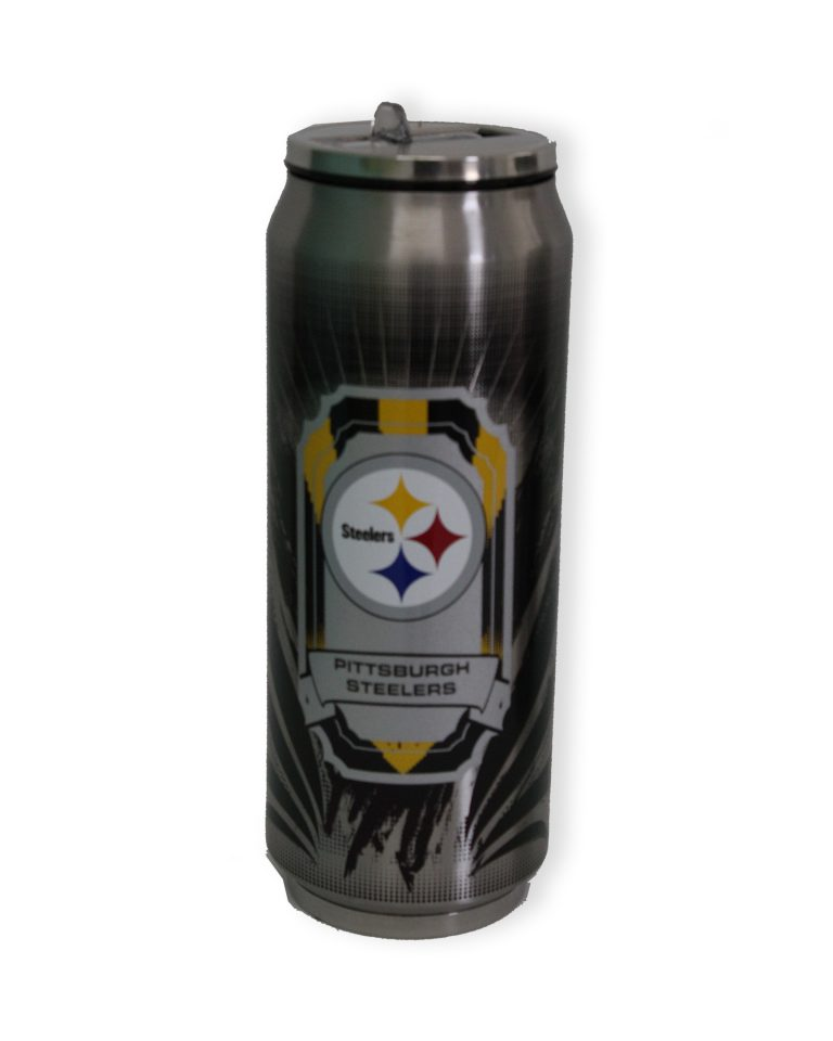 Termo NFL Pittsburgh Steelers color gris con amarillo