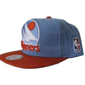 Gorra Mitchell & Ness, San Diego Clippers Color azul cielo con naranja, Snapback